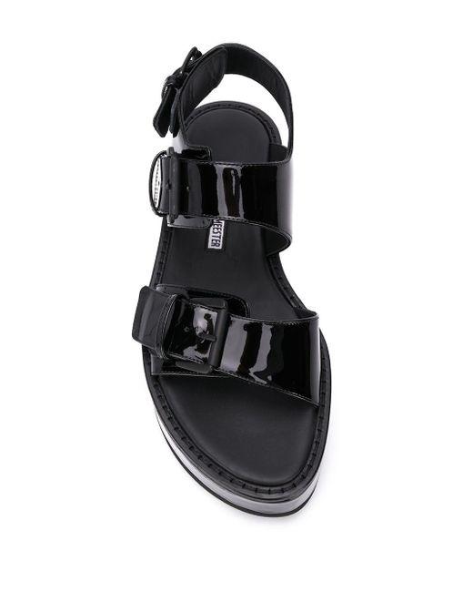 Лакированные Сандалии С Открытым Носком Ann Demeulemeester, цвет: Black