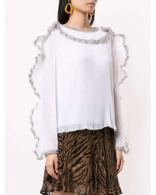 See By Chloé プリーツ ラッフルブラウス White