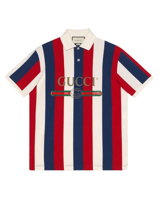 best site shop for best high quality Gucci Cotton Logo Baiadera Polo in Red for Men - Save 49% - Lyst