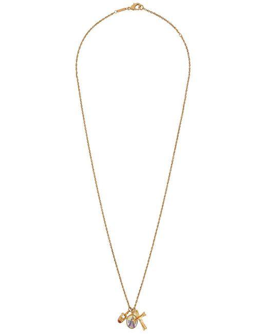 メンズ Dolce & Gabbana ペンダント ネックレス Metallic