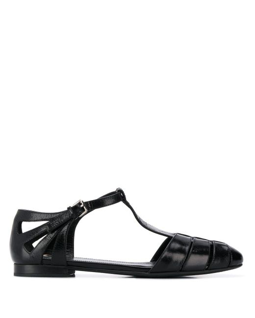 Church's Black Rainbow T-bar Sandals