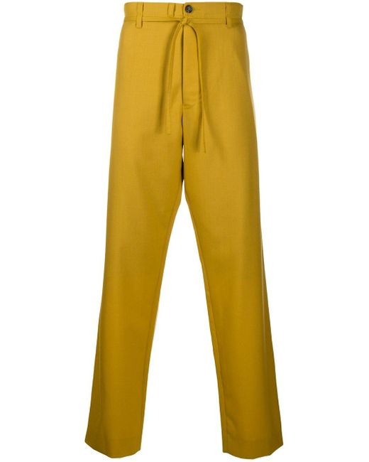 メンズ Marni ルーズフィット パンツ Yellow