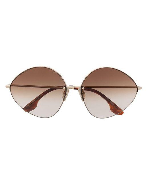 Lunettes de soleil à monture ovale Victoria Beckham en coloris Metallic