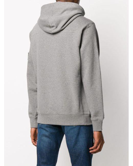 メンズ Calvin Klein ロゴ スウェットパーカー Gray