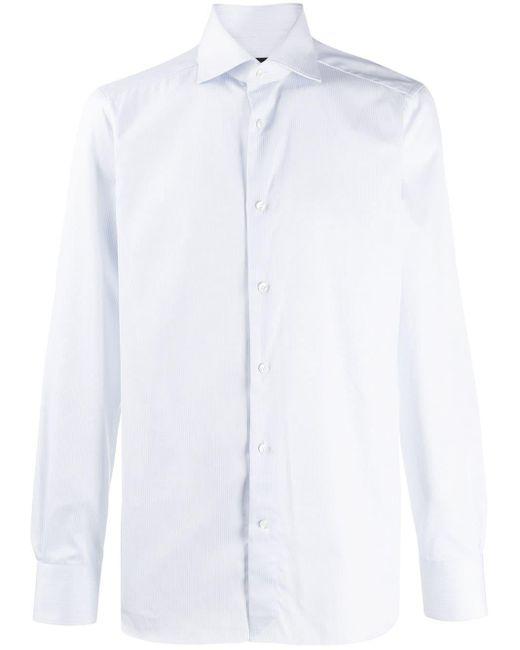Camicia a righe di Ermenegildo Zegna in Blue da Uomo