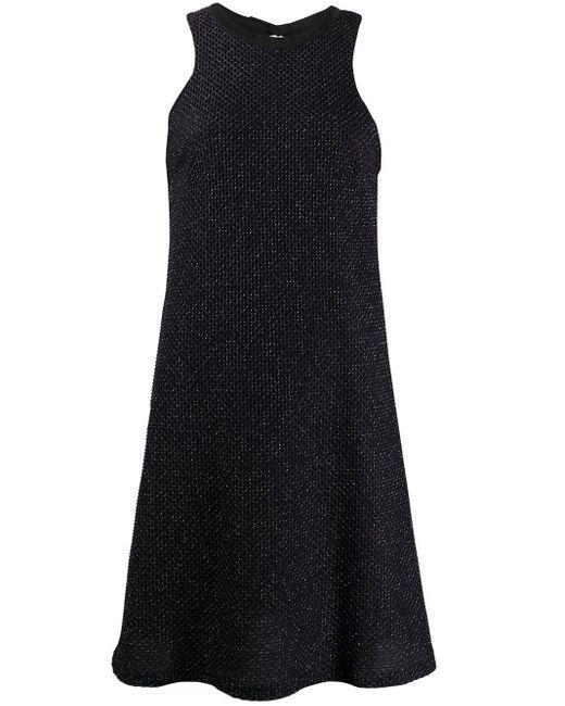 Fisico メタリック ドレス Black
