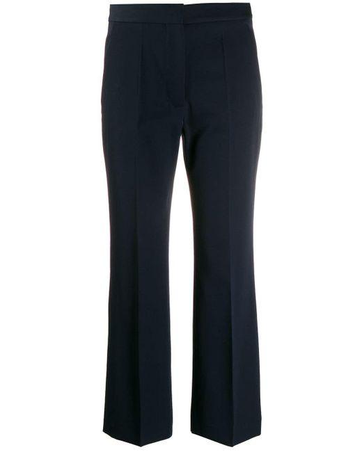 Stella McCartney Blue Elegante Cropped-Hose