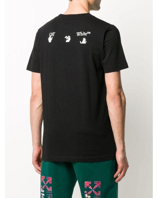 Футболка С Круглым Вырезом И Логотипом Off-White c/o Virgil Abloh для него, цвет: Black