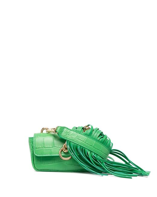 Pinko クロコダイルパターン ミニバッグ Green