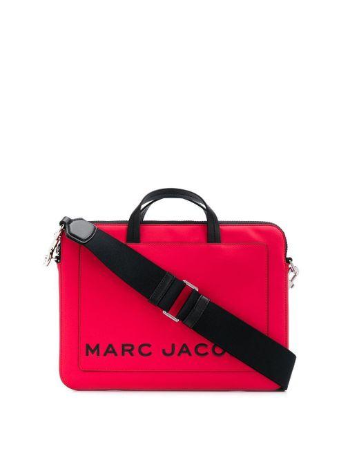 Marc Jacobs Red Printed Logo Laptop Bag