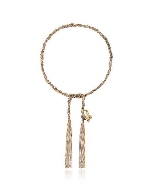 Carolina Bucci - Silver Metallic Virtue Charm Yellow And White Gold Lucky Bracelet - Lyst