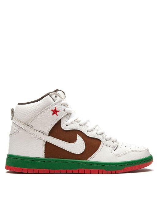 Nike White Dunk High Premium Sb for men