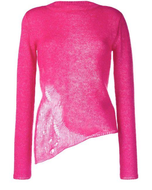 Saint Laurent ダメージセーター Pink