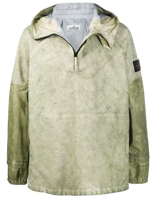 Непромокаемый Анорак С Капюшоном Stone Island для него, цвет: Green