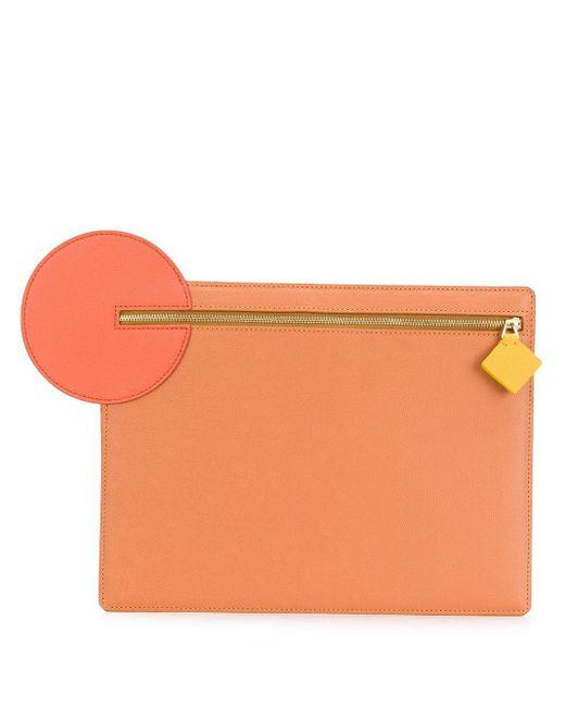 Roksanda ジップ クラッチバッグ Orange