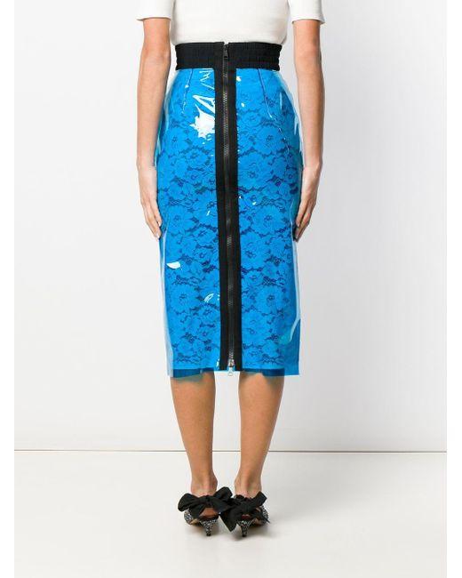 N°21 フローラル スカート Blue