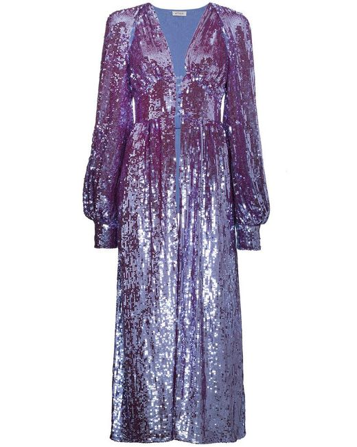 Lyst Attico Long Sleeve Sequin Embellished Robe In