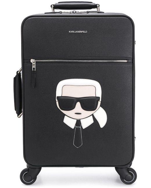 Karl Lagerfeld K/ikonik スーツケース Black
