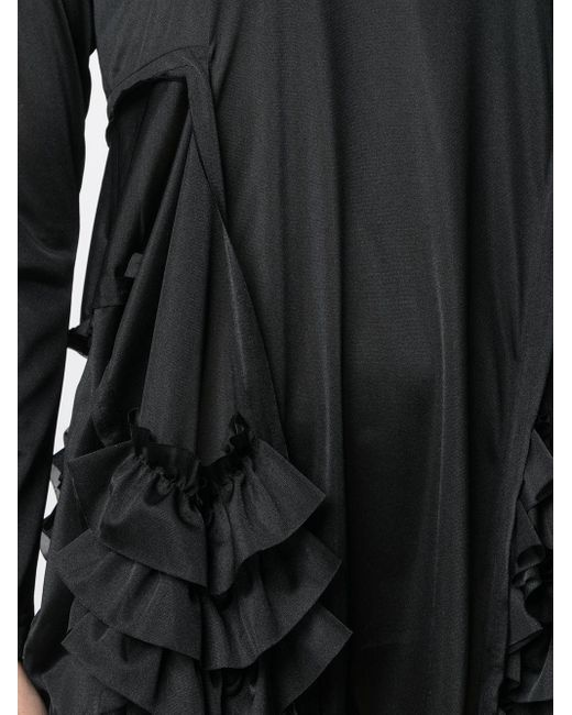 Comme des Garçons サイド ラッフル ドレス Black