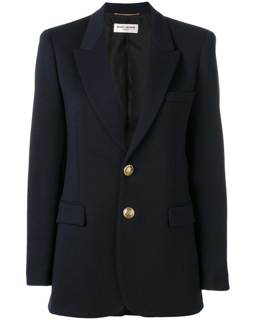 Saint Laurent | Blue Classic Single Breasted Jacket | Lyst