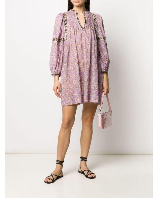 Étoile Isabel Marant Virginie ロングスリーブ ドレス Purple
