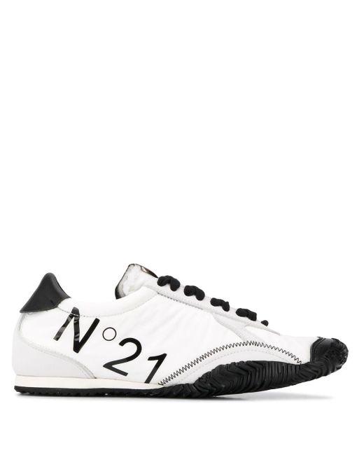 N°21 ロゴ ローカット スニーカー White