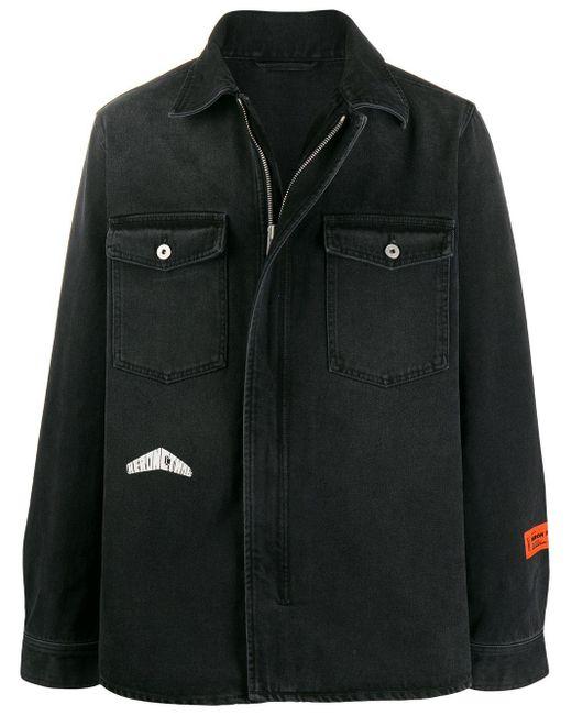 メンズ Heron Preston オーバーサイズ デニムジャケット Gray