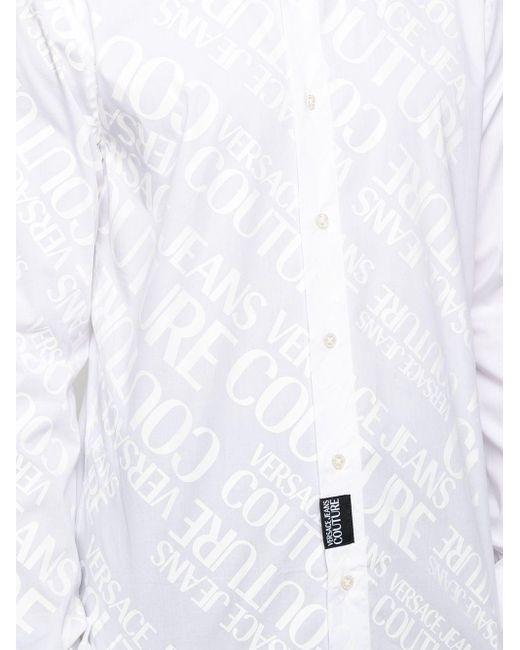 Camicia con stampa di Versace Jeans in White da Uomo