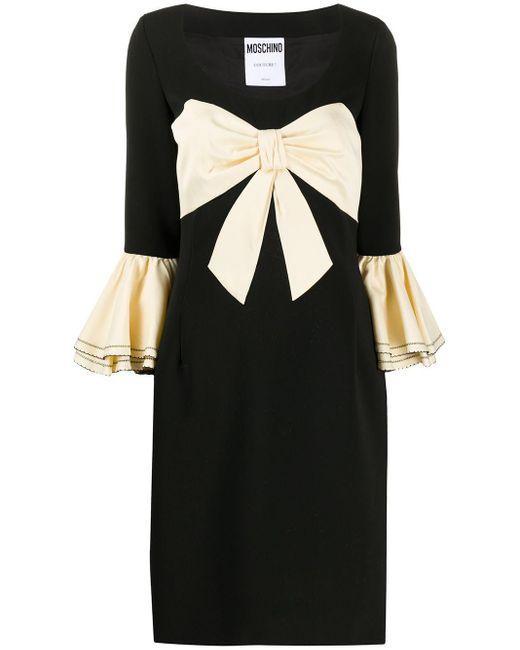 Vestito lungo con fiocco di Moschino in Black