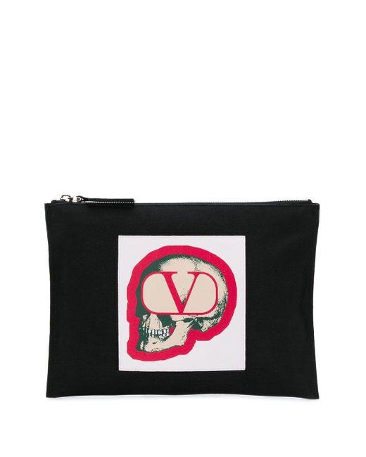 メンズ Valentino Garavani X Undercover 'goスカル' クラッチバッグ Black