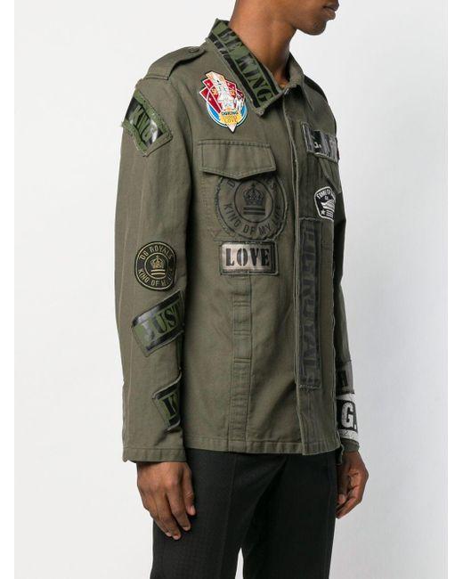 Классическая Куртка-рубашка Dolce & Gabbana для него, цвет: Green