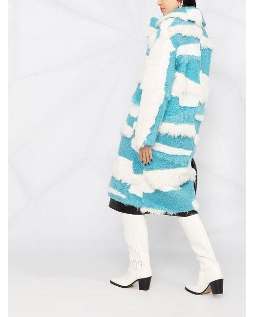MSGM バイカラー コート Blue