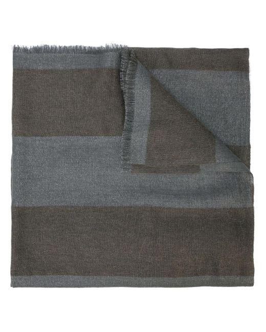 Brunello Cucinelli ストライプ スカーフ Gray