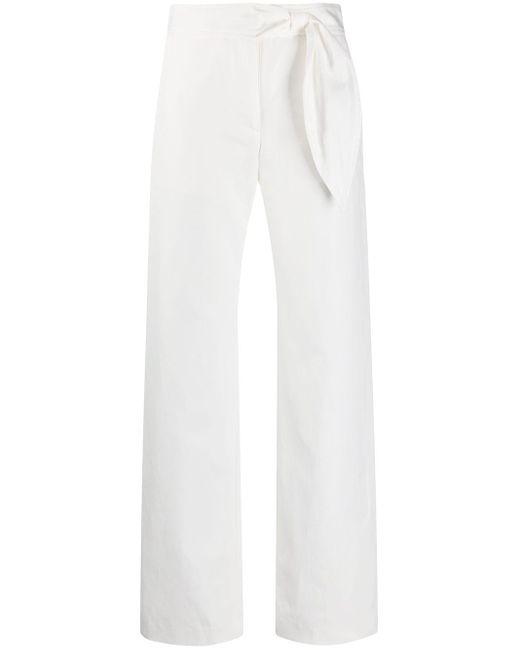 MSGM サイドタイ ストレートパンツ White