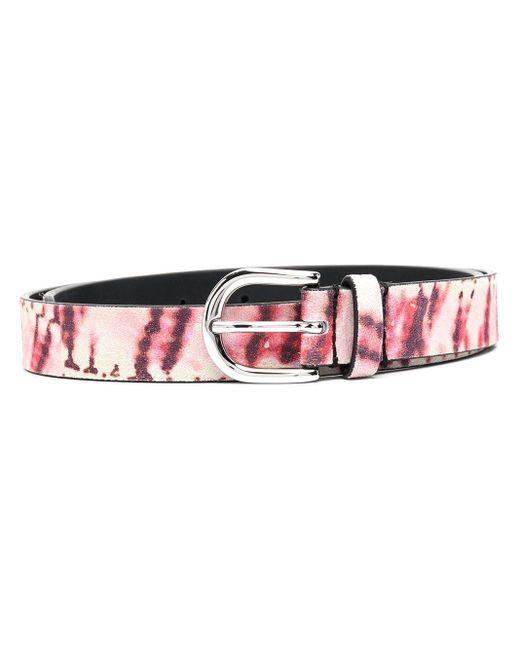 Ceinture à motif tie dye Isabel Marant en coloris Pink