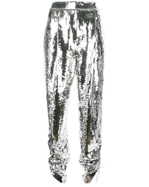 Tibi Avril スパンコール パンツ Metallic