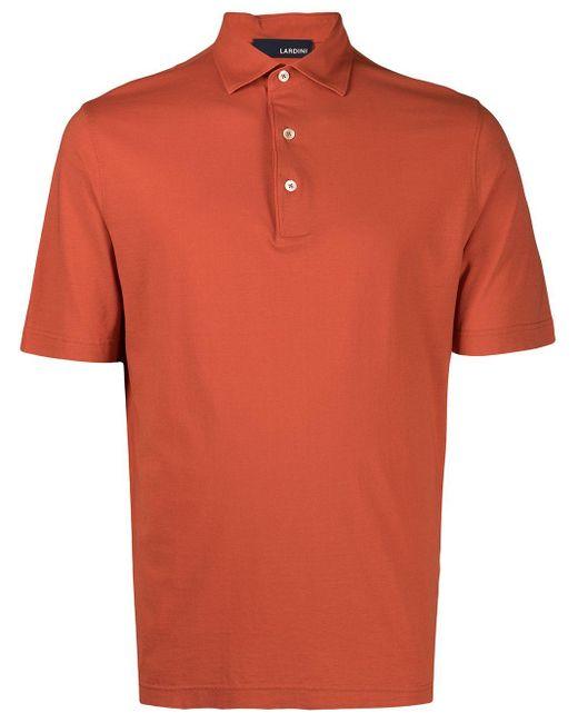 メンズ Lardini コットン ポロシャツ Orange