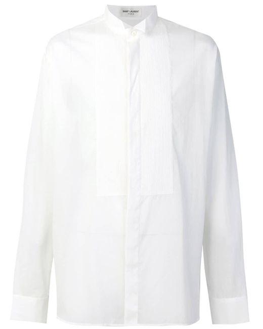 メンズ Saint Laurent ウイングカラー シャツ White