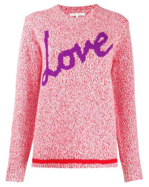 Chinti & Parker Love インターシャセーター Pink