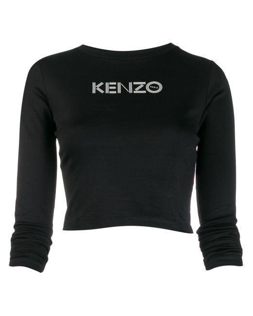 KENZO ロゴ クロップドトップ Black