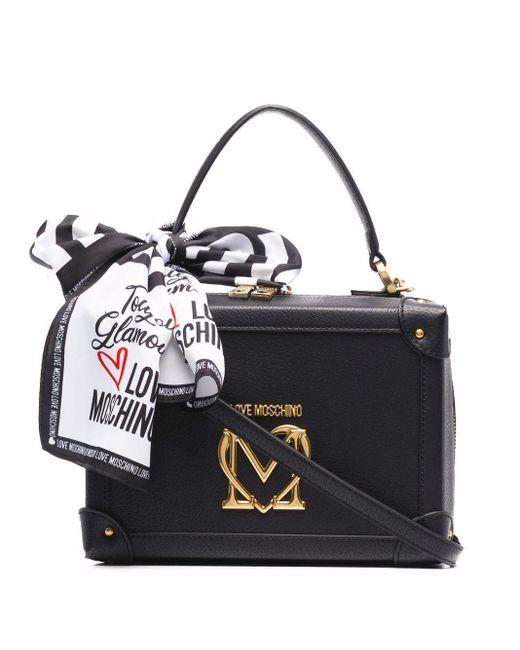 Love Moschino ロゴプレート ショルダーバッグ Black