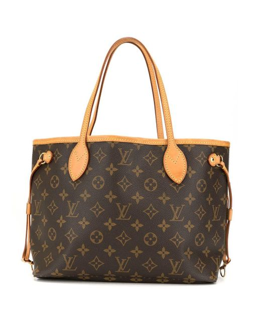 Borsa tote Neverfull PM di Louis Vuitton in Brown