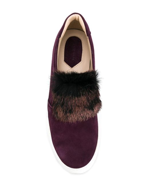 Avant La Fourrure Elie Saab Slip-on Chaussures De Sport - Rose Et Violet 0MtuUkDdo