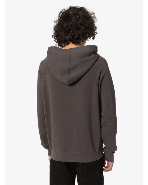 Худи С Принтом Saint Laurent для него, цвет: Gray