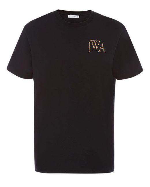 メンズ J.W. Anderson レインボー エンブロイダリー Tシャツ Black