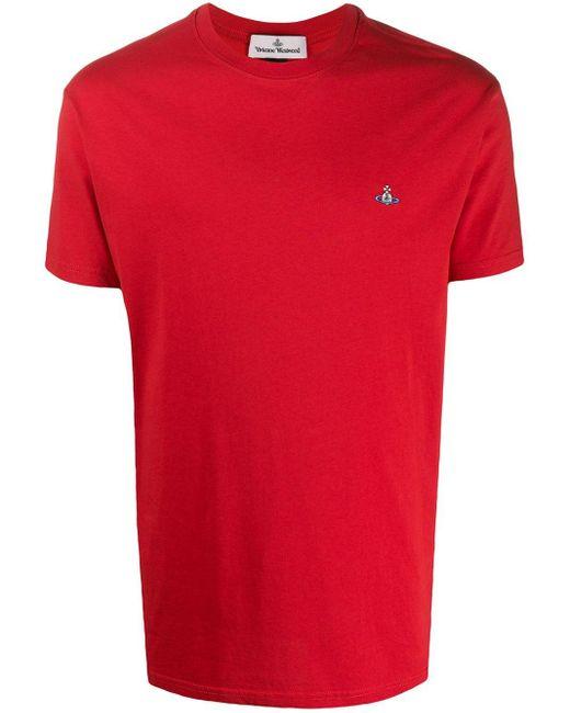 メンズ Vivienne Westwood ラウンドネック Tシャツ Red