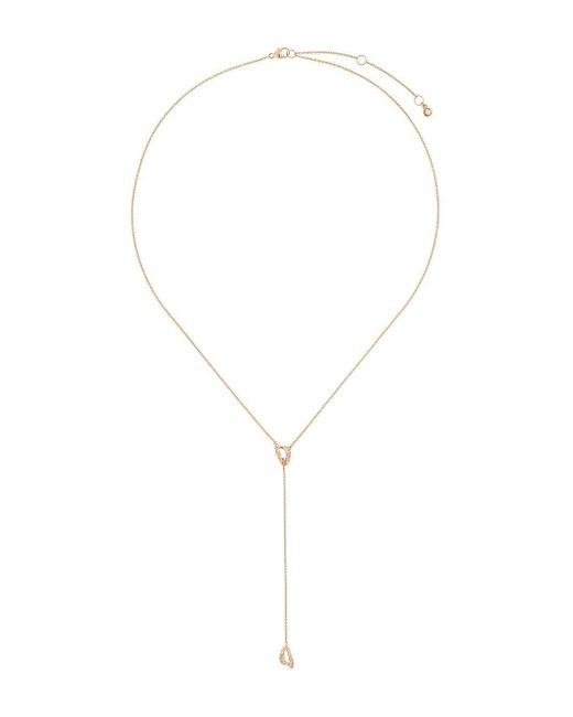 Astley Clarke Metallic 14kt Yellow Gold Mini Vela Diamond Lariat Necklace