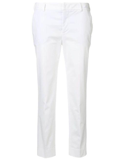 PT01 クロップド テーパードパンツ White