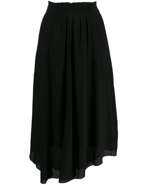Étoile Isabel Marant アシンメトリーミディスカート Black