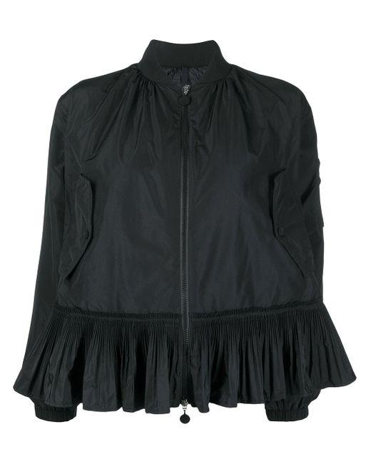 Moncler ペプラム ボンバージャケット Black